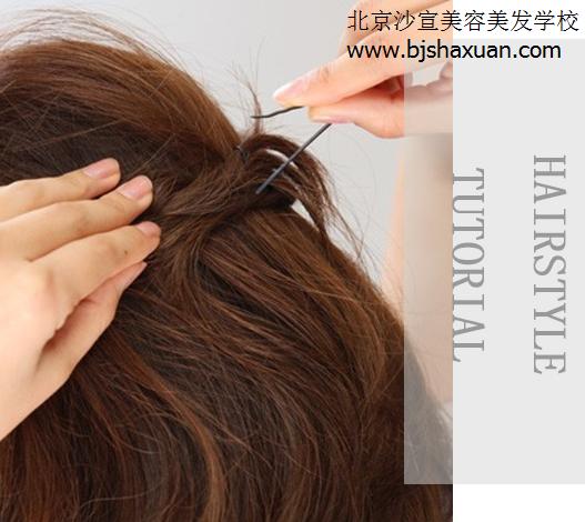 漂亮的短发发型 短发编发技巧-北京沙宣美发培训学校